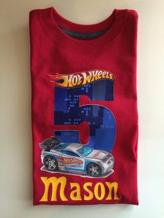 Hey, I found this really awesome Etsy listing at https://www.etsy.com/listing/228581109/hot-wheels-birthday-shirt