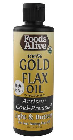 Foods Alive Organic 100% Gold Flax Oil Artisan Cold-Pressed