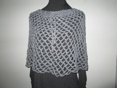 Gray Poncho/Skirt Crocheted by SuzannesStitches, Girls Crochet Poncho, Teen Crochet Skirt, Swimsuit Coverup, Boho Skirt, Crochet Poncho Gray by SuzannesStitches on Etsy