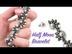 Beading Ideas - Half Moon Bracelet ~ Seed Bead Tutorials