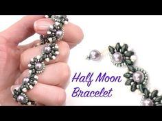 Beading Ideas - Half Moon Bracelet ~ Seed Bead Tutorials