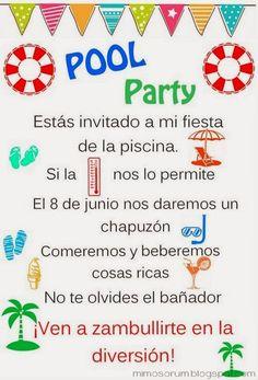 MIMOSORUM : 7 Ideas para una Fiesta en la Piscina - Pool Party Ideas                                                                                                                                                      Más
