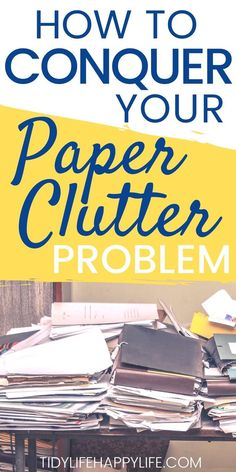 Tired of looking at piles of paper and beating yourself up over the mess? Try this complete guide to obliterating your paper clutter problem today. Organizing Important Papers, Organizing Paperwork, Organizing Documents, Organizing Jewelry, Organising, Organizing Ideas, Small Space Organization, Paper Organization, Feeling Happy Quotes