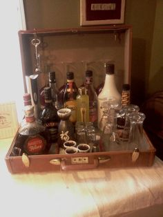 Suitcase Mini Bar