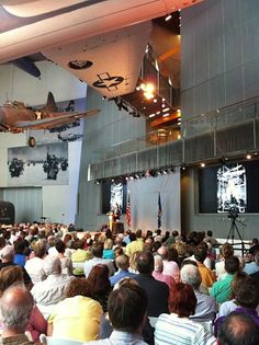 Robert Edsel speak at the National WWII Museum