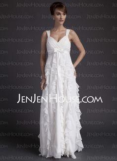 Wedding Dresses - $89.19 - A-Line/Princess Sweetheart Ankle-Length Chiffon Wedding Dresses With Ruffle (002011682) http://jenjenhouse.com/A-line-Princess-Sweetheart-Ankle-length-Chiffon-Wedding-Dresses-With-Ruffle-002011682-g11682