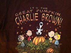 new peanuts its the great pumpkin charlie brown halloween snoopy t shirt sz m