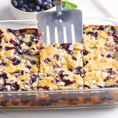 These Pinterest favorite berry pie bars are a tasty dessert that's great for bake sales, spring and summer picnics, parties and of course, after dinner! Also delicious with cherries, raspberries, blackberries or strawberries!