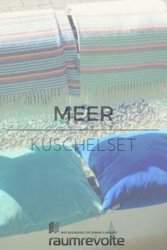Abtrocknen, einkuscheln, hinsetzen - Sommerdecken und Kissen von pad