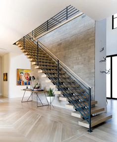 Modern Italian farmhouse showcases stunning interior details in Dallas Modern Staircase Dallas Details FARMHOUSE interior Italian modern showcases Stunning Staircase Contemporary, Modern Staircase, Contemporary Home Decor, Staircase Design, Modern Interior Design, Home Design, Farmhouse Contemporary, Iron Staircase, Staircase Ideas