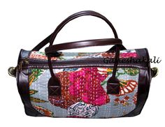 Cotton Kantha Tote Bag Handmade art beautiful bag #Ganeshakali #BucketBagCrossbodyTote