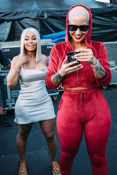 Amber Rose brought son Bash to film Jimmy Kimmel Monday, Blac Chyna to 21 Savage show at Day'N'Night Festival, Dascha Polanco Bazaar party Amber Rose, Thick Girls Outfits, Girl Outfits, Day And Night Festival, Savage, Red Tracksuit, Baby Bash, Metallic Mini Dresses, Blac Chyna