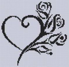 Heart Roses Cross Stitch Pattern Looking for your next project? You're going to love Heart Roses Cross Stitch Pattern by designer Motherbeedesigns. – via Craftsy Wedding Cross Stitch, Cross Stitch Heart, Beaded Cross Stitch, Cross Stitch Flowers, Counted Cross Stitch Patterns, Cross Stitch Designs, Cross Stitch Embroidery, Embroidery Patterns, Hand Embroidery