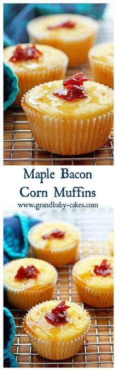 Delicious Maple Bacon Corn Muffins perfect for Breakfast! ~ http://www.grandbaby-cakes.com