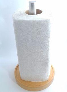 O Porta Papel Toalha de Mesa produzido em Madeira Nobre e Alumínio Escovado oferece praticidade e elegância a sua cozinha.