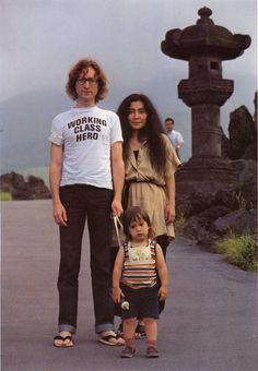 John Lennon, Yoko Ono, and Sean Lennon.