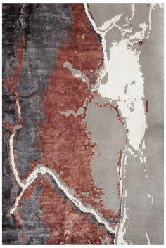 Carpette nouée main Carpet Tiles, Hall Carpet, Rugs On Carpet, Ocean Rug, Carpet Decor, Hallway Carpet Runners, Rug Company, Lesage, Fabric Rug