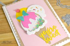 Kandrdesigns: Shaker Card, WPlus9 Sweet On You, Stuck On You, Pure Color Dye Ink