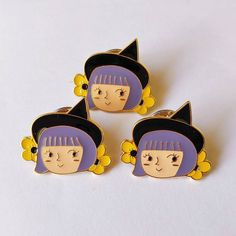 Happy Little Witch Pins