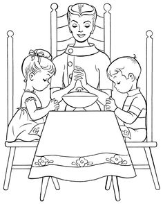 coloring pages dinner - photo#28