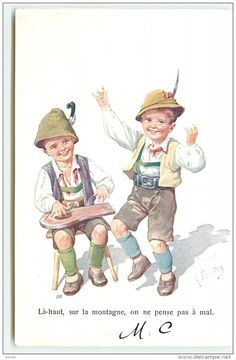 karl feiertag | 1005 - Karl Feiertag - Enfants Déguisés En Tyroliens - Là-haut ...