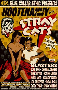 Stray Cats Poster by Tobias Geye
