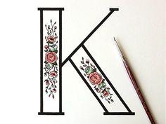 prettygirliethings: Trendgraphy: Floral K By Kelsey Phillipshttp://prettygirliethings.tumblr.com/