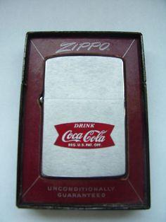1960s Coca Cola Zippo Lighter with Fishtail