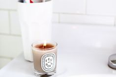 Bathroom of Bibi Cornejo Borthwick Vintage Tile, Vintage Modern, Bath And Beyond, My Home Design, Candle Lamp, Humble Abode, Spa Day, Scented Candles, Home Deco