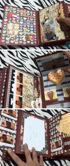 DIY Scrapbook for Boyfriend   DIY Valentine Gifts for Him   DIY Valentine Gifts for Boyfriend