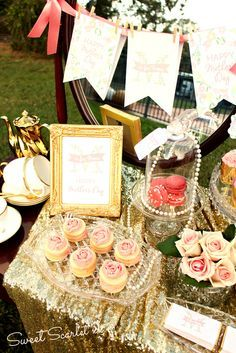 Lovely vintage Mother's Day Party! See more party ideas at CatchMyParty.com!
