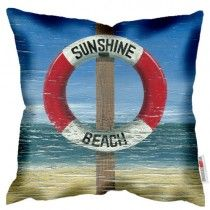 Sunshine Beach - Martin Wiscombe - Art Print Cushion. Machine washable, Free UK delivery, handmade in UK. £34.99