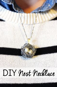 This DIY nest necklace craft can be created in about 15 minutes. Each egg represents a child so it makes a lovely Mothers Day gift or baby shower gift.