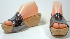 Women's Stuart Weitzman Tortoise shell Patent Leather Platform Sandals 7½ M  | eBay
