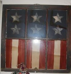 Old Window Flag Art!! Miss Trisha F. You can make one of these for me :) C.O