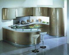 curved kitchen island-modern