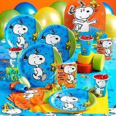 Fiesta infantil con decoración de Snoopy | Fiesta101                                                                                                                                                                                 Más