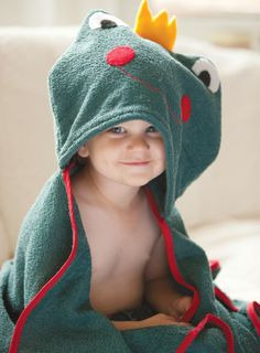 Froggie Hooded Towel