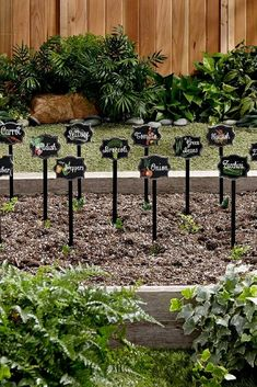 Garden markers: ideas to diy or buy. Fun and funny garden signs, plant tags, plant markers. Vegetable Garden Markers, Garden Plant Markers, Vegetable Garden Design, Herbs Garden, Vegetable Gardening, Funny Garden Signs, Garden Labels, Plant Labels, Garden Plaques