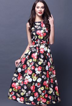 Gorgeous Sleeveless Calf-Length Dress - Lalalilo.com Shopping - The Best Deals on Women's Dresses