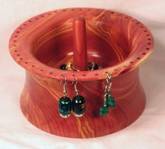 Handmade Cedar Wood Earring Bowl and Ring Holder by StyrenDesigns, $33.00