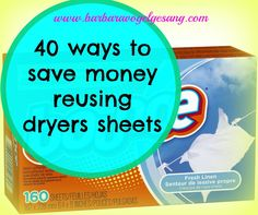 Money is tight and suggestions to reuse things always helps our budgets. Here are 40 ideas to extend the usage life of a simple dryer sheet.