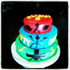 Power rangers cake i made