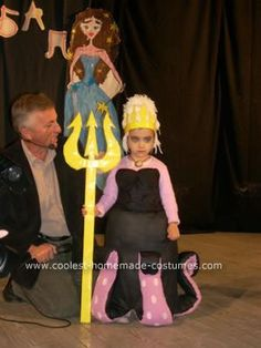 Homemade Ursula Costume: I made this Homemade Ursula Costume for my daughter's costume party. I asked her what she want's to be and she said Ursula because she was watching The