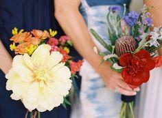 bridesmaid-bouquets-yellow-red-white-blue.jpeg #JoyThigpen #Thigpen