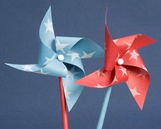 favours? centerpieces? invites, with how to transform into pinwheel instructions? Or how about giant ones for a child's party?