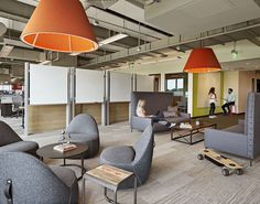 Absolutely love those movable chairs! BDG together with developer Normandy Real Estate Partners and Elkus/Manfredi Architects, have designed the new TripAdvisor headquarters in Needham, Massachusetts.