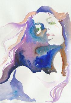 Print of Watercolor Painting, via Etsy (possible de bidouiller ceci dans photoshop ?)