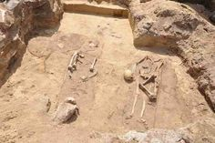 """Four skeletons unearthed in Poland appear to have been buried in a """"vampire"""" ritual designed to prevent them returning from the grave."""