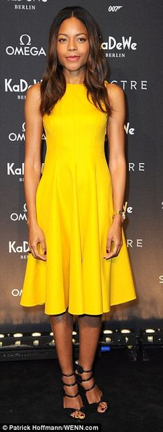 Earlier on Wednesday, Naomie had worn a yellow dress at the launch of an Omega Bond exhibi...